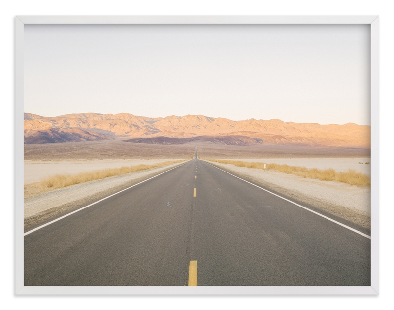 """Sunset Desert Highway"" - Art Print by Anna Western in beautiful frame options and a variety of sizes."