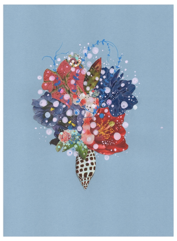 """""""Cerulean Volute"""" - Art Print by Jenny Brown in beautiful frame options and a variety of sizes."""