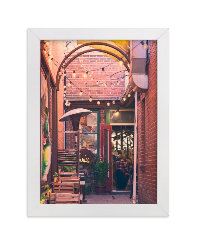 """Brick Hideaway"" - Art Print by Erin Niehenke in beautiful frame options and a variety of sizes."