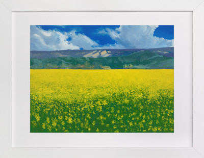 Calistoga Mustard  Art Print