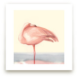 Soft Hued Flamingo by Tracy Ann