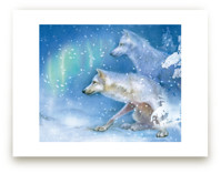 Snowy Den-Arctic Wolves by Tracy Ann