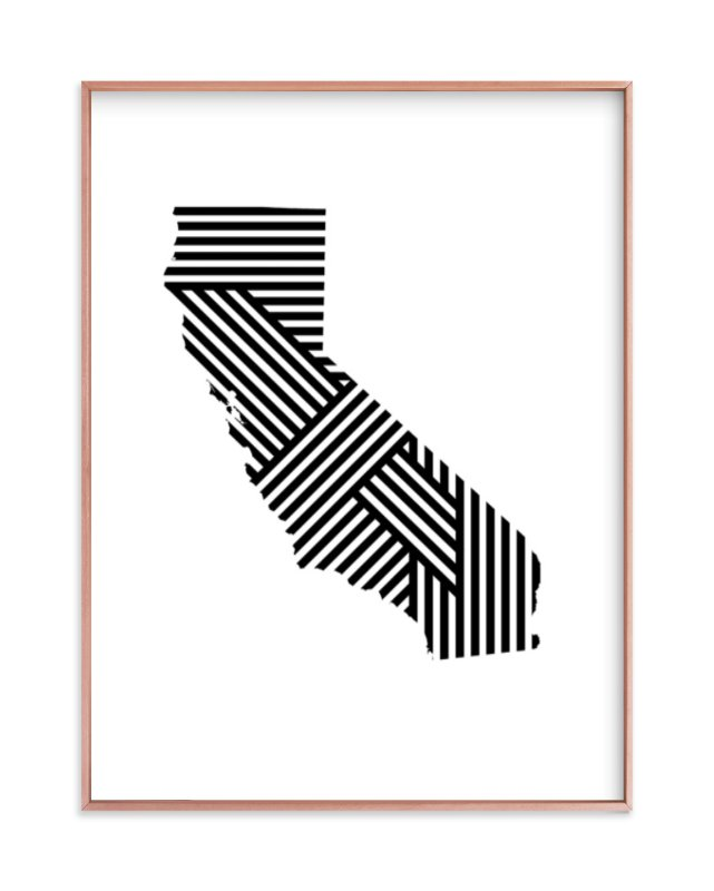 """""""State Lines, California"""" - Art Print by Owl and Toad in beautiful frame options and a variety of sizes."""
