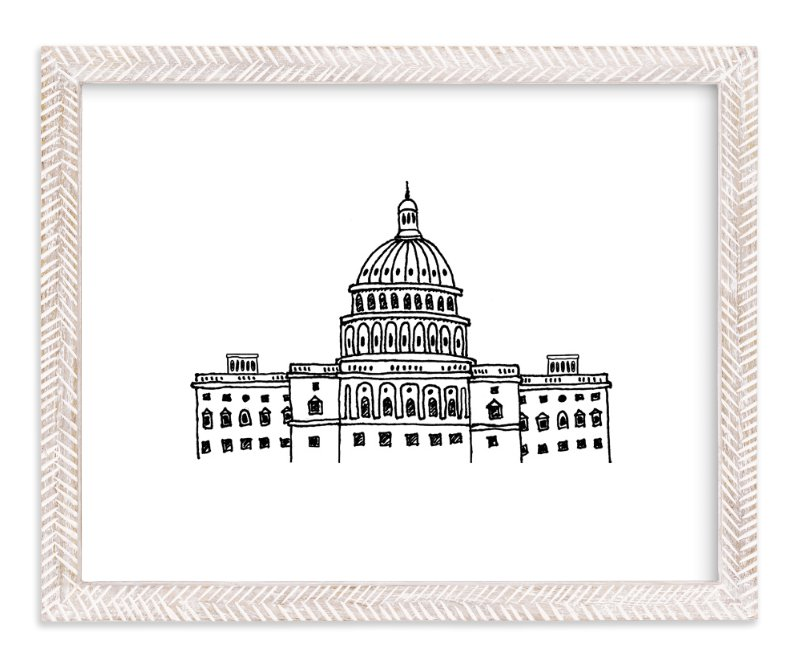 """Around the World Washington D.C."" - Art Print by Olive and Me Studios in beautiful frame options and a variety of sizes."