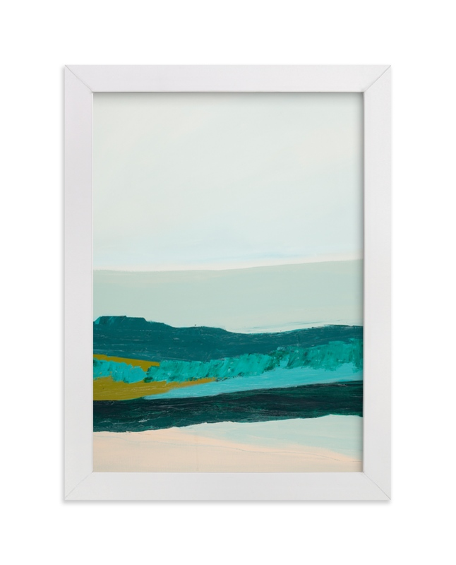 """Abstract  Seascape Jade Green"" - Art Print by Caryn Owen in beautiful frame options and a variety of sizes."