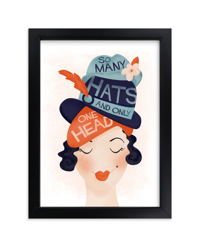 """""""Chapeau"""" - Art Print by Pistols in beautiful frame options and a variety of sizes."""