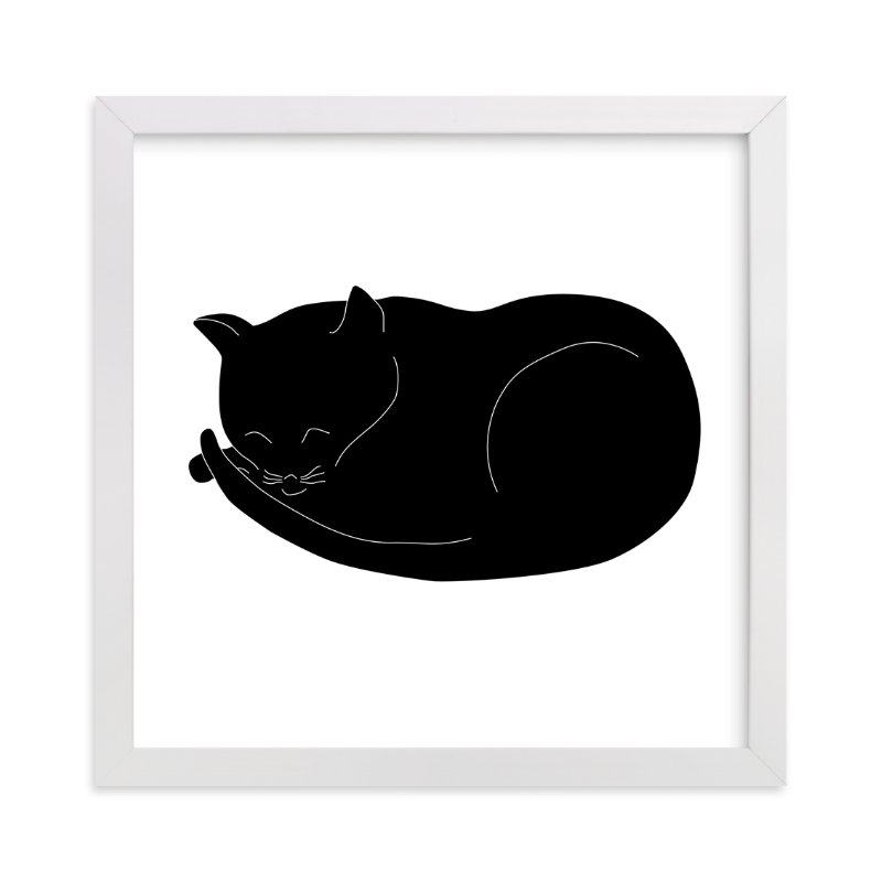 """""""Morning Cat Nap"""" - Art Print by Gaucho Works in beautiful frame options and a variety of sizes."""