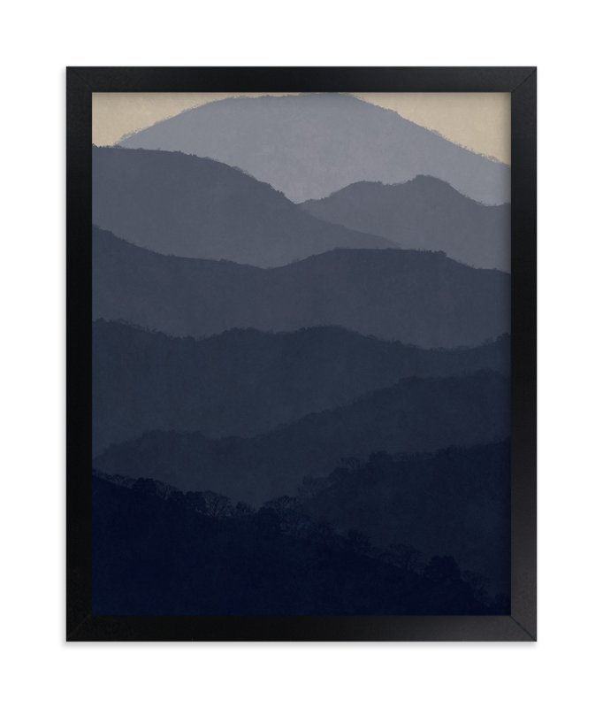 """""""At Home in the Mountains"""" - Art Print by Dawn Jasper in beautiful frame options and a variety of sizes."""