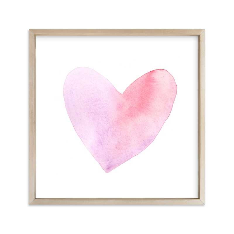 """""""Pale Heart II"""" - Art Print by Vanessa Rossi Design in beautiful frame options and a variety of sizes."""