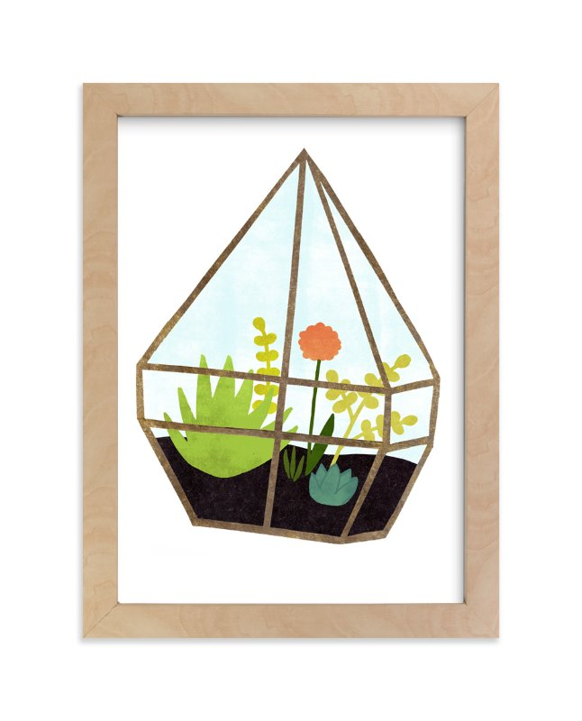 """Terrarium 1"" - Art Print by Kelly Nasuta in beautiful frame options and a variety of sizes."