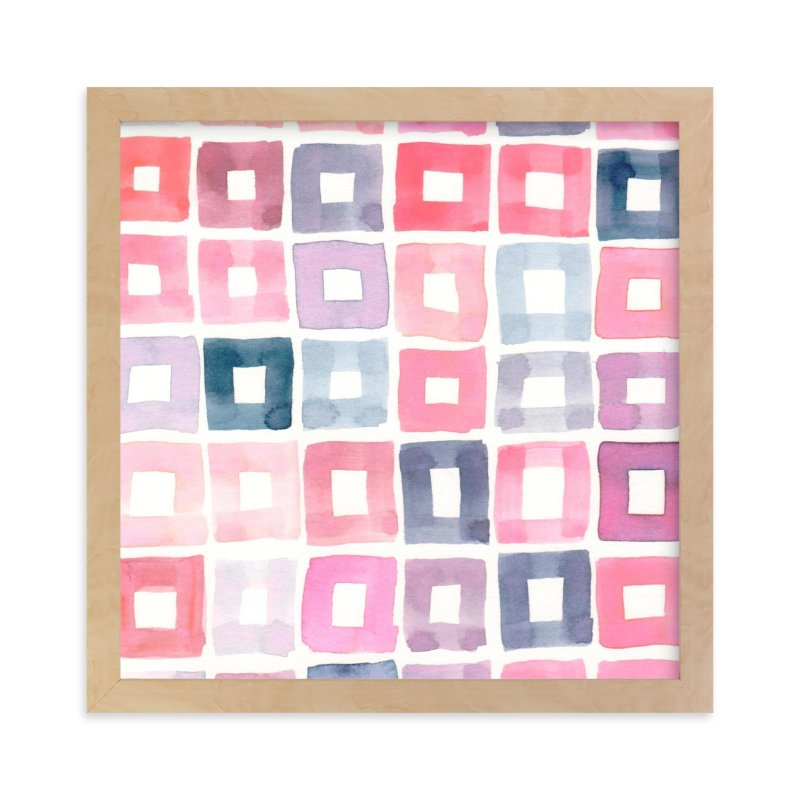 """Autumn, No. 3 (Squares)"" - Art Print by SylvieCeres Designs in beautiful frame options and a variety of sizes."