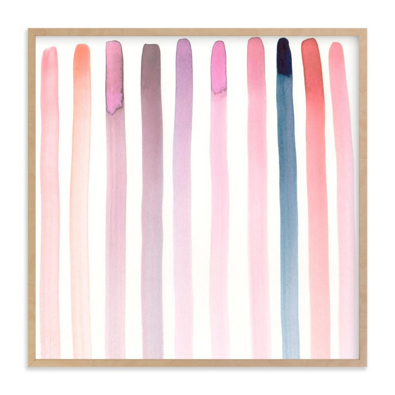 """""""Autumn, No. 4 (Stripes)"""" - Art Print by SylvieCeres Designs in beautiful frame options and a variety of sizes."""