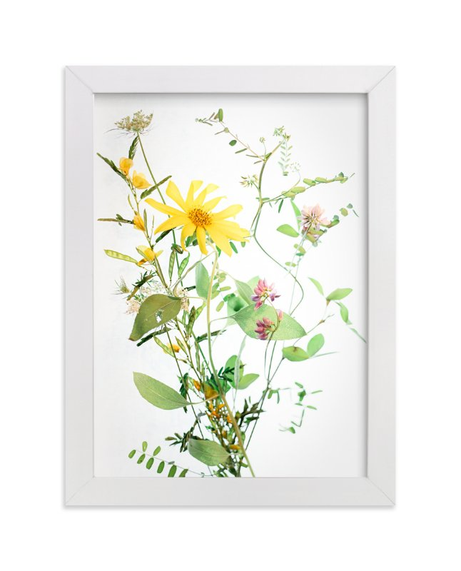 """A  Bunch of Wild Flowers"" - Art Print by Qing Ji in beautiful frame options and a variety of sizes."