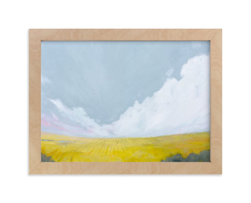 """""""Yellow Landscape"""" - Art Print by Kara Schlabaugh in beautiful frame options and a variety of sizes."""