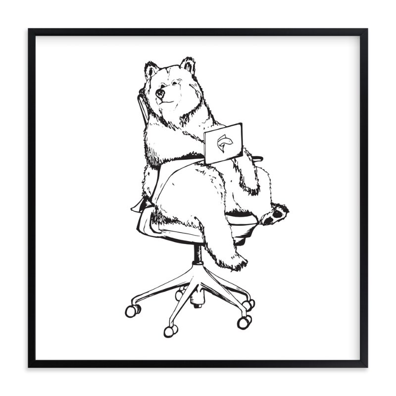 """""""Sayl Chair Bear"""" - Art Print by Flume Design in beautiful frame options and a variety of sizes."""