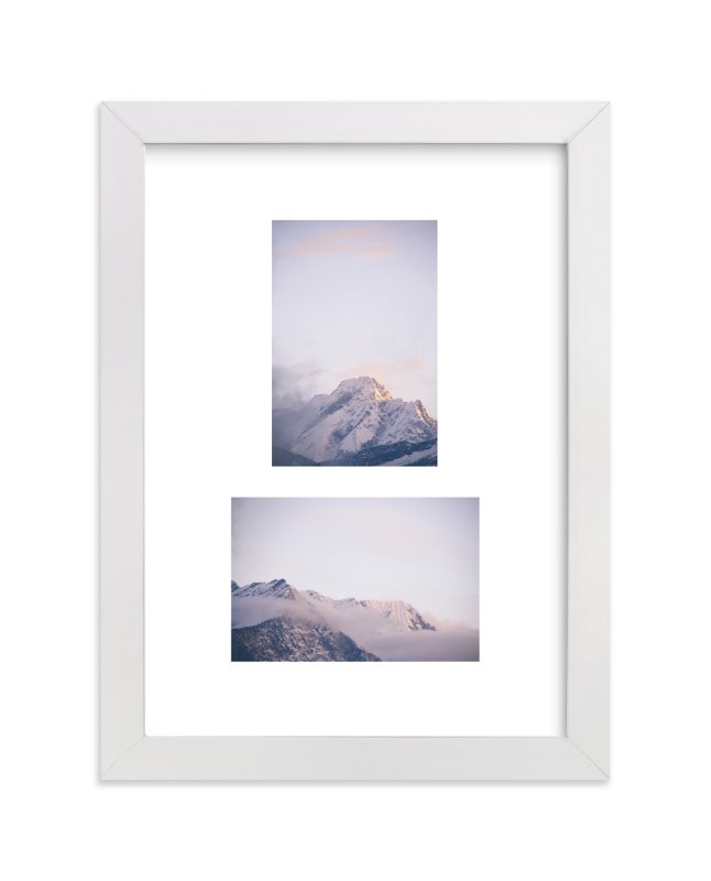 """""""mountain study no.1 - cloudy"""" - Art Print by lulu and isabelle in beautiful frame options and a variety of sizes."""