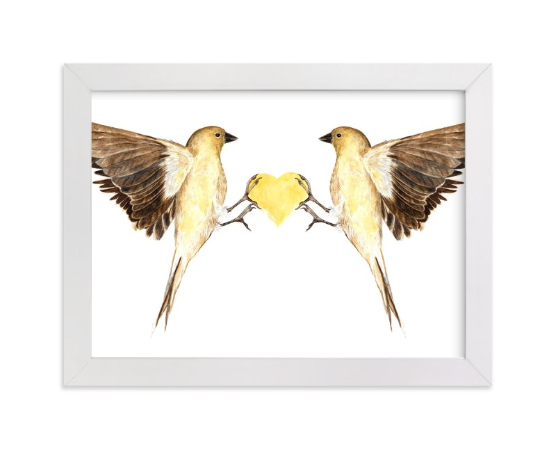 """""""Winged Heart"""" - Art Print by Eve Schultz in beautiful frame options and a variety of sizes."""