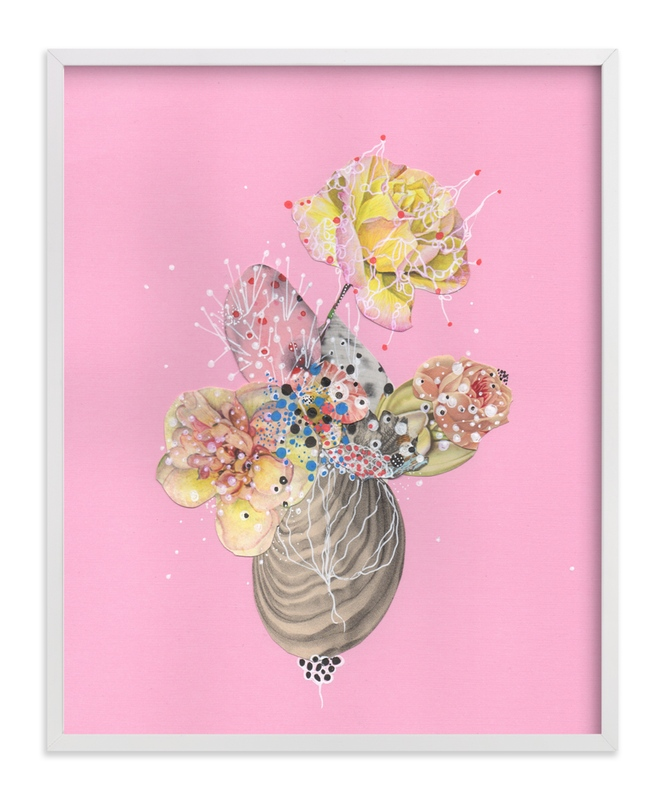 """""""Deep Blossoming Mollusk"""" - Art Print by Jenny Brown in beautiful frame options and a variety of sizes."""