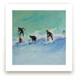 Surf boys at Sunset