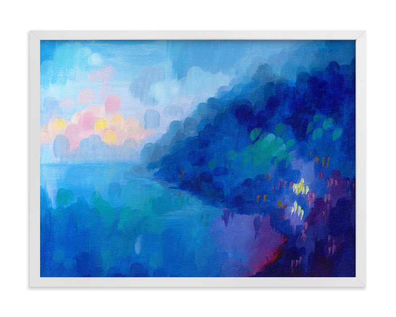 """""""Positano Sunset"""" - Art Print by Holly Whitcomb in beautiful frame options and a variety of sizes."""