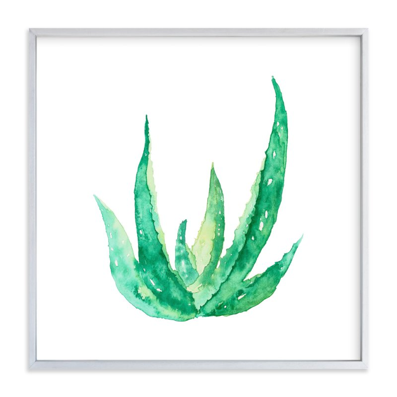 """""""Aloe #1"""" - Art Print by Belia Simm in beautiful frame options and a variety of sizes."""
