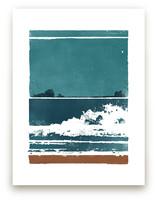 Screen Print Beach by Heather Francisco