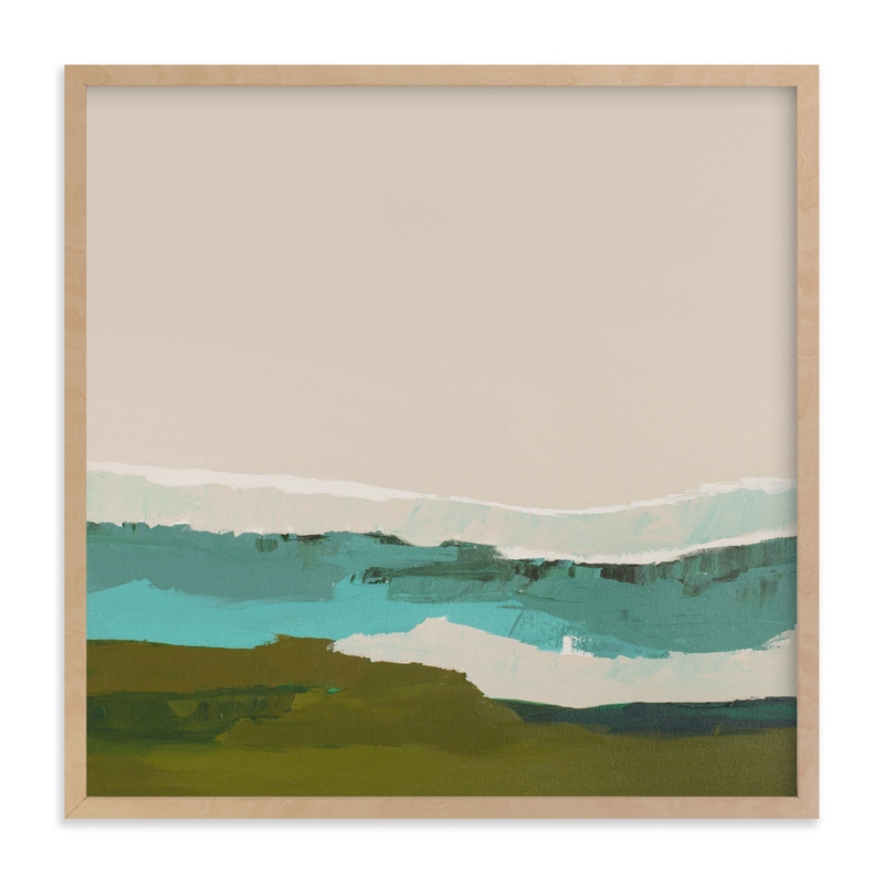 """""""Abstract Seascape #2"""" - Art Print by Caryn Owen in beautiful frame options and a variety of sizes."""