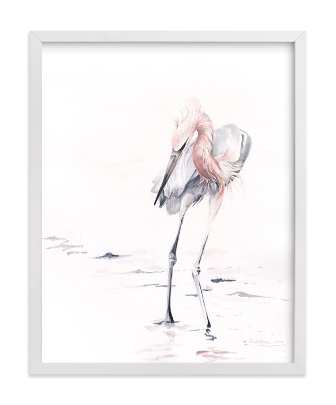 """""""Reddish Egret"""" - Art Print by Annie Moran in beautiful frame options and a variety of sizes."""