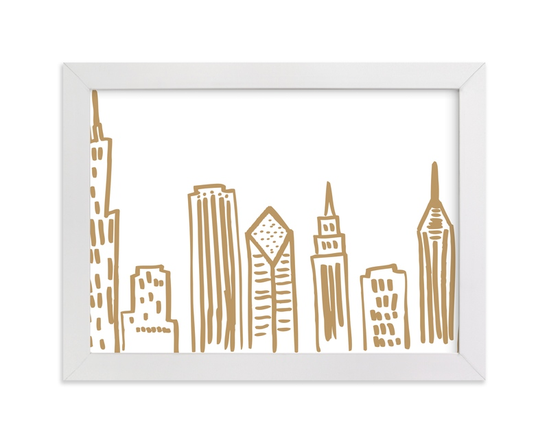 """""""Chicago Scape"""" - Art Print by Abby Munn in beautiful frame options and a variety of sizes."""