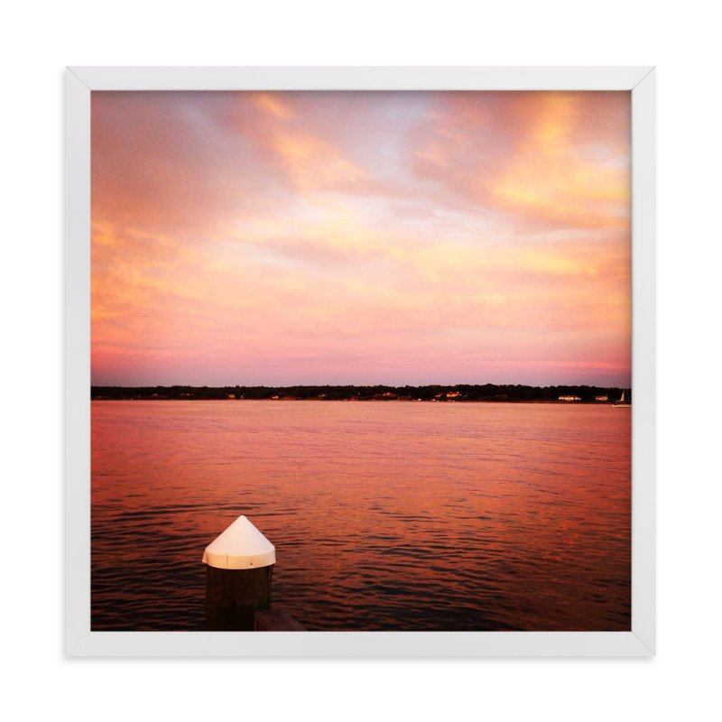 """""""Pink Sky"""" - Art Print by Jill Fisher in beautiful frame options and a variety of sizes."""