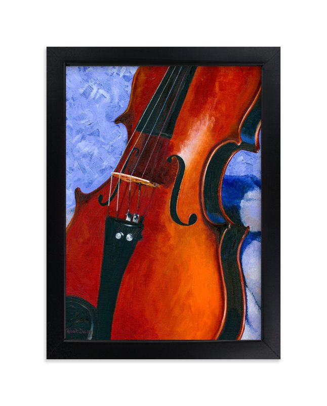 """""""Grandfather's Violin"""" - Art Print by Robert Deem in beautiful frame options and a variety of sizes."""