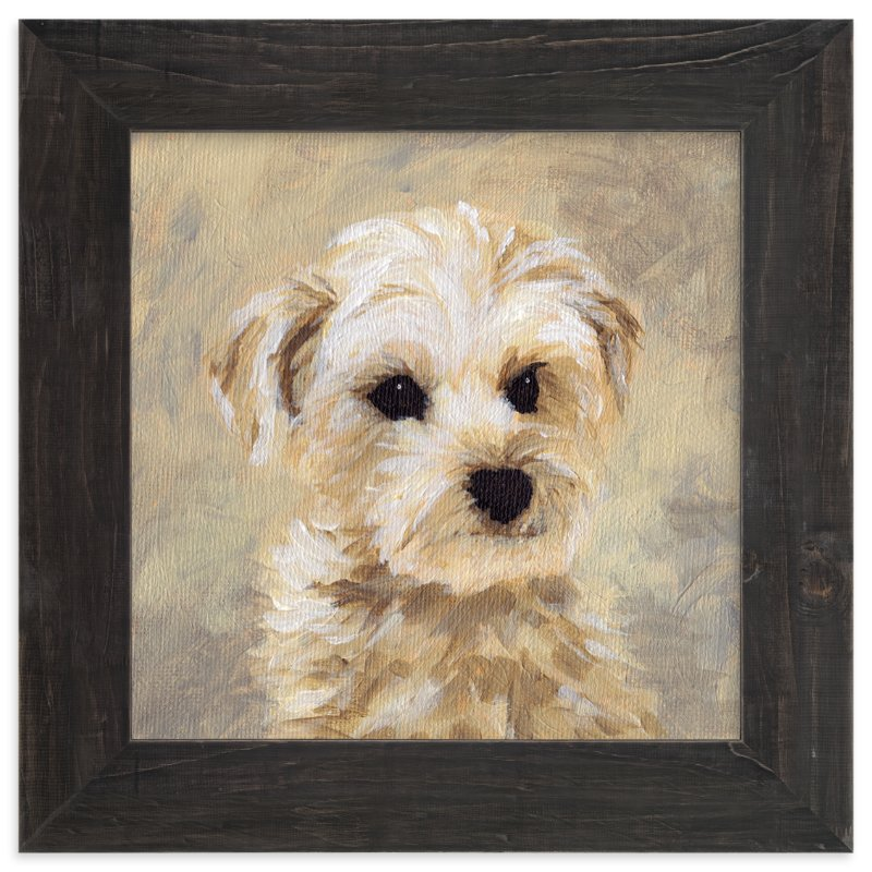 """Yorkie Love II"" - Art Print by Holly Whitcomb in beautiful frame options and a variety of sizes."