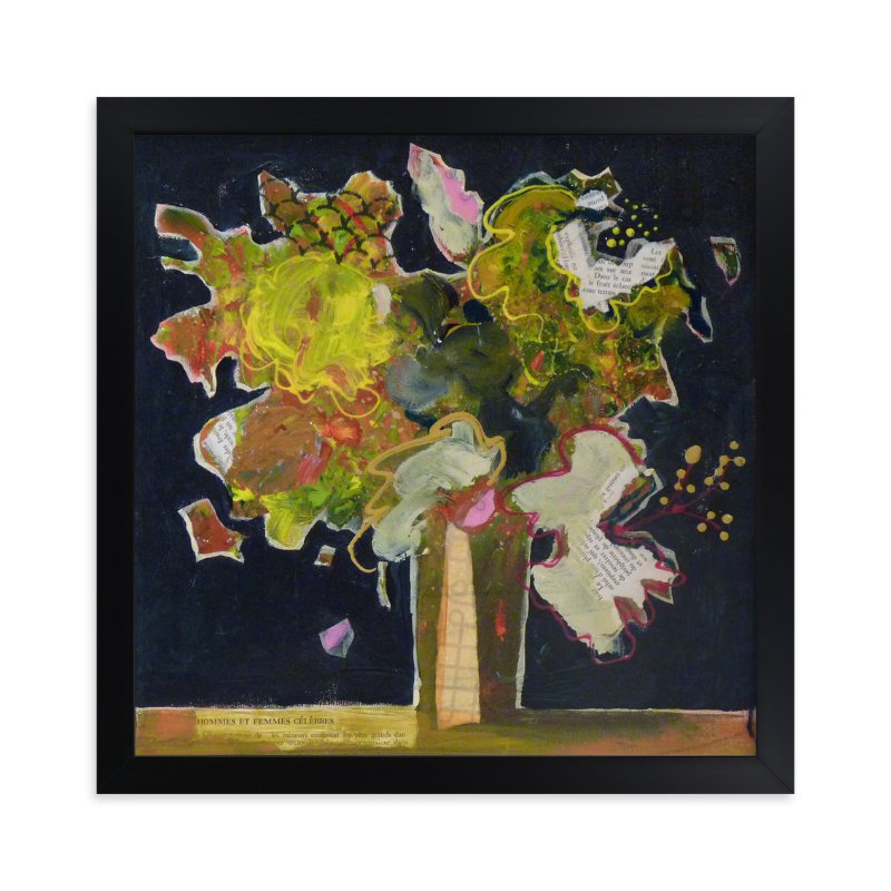 """""""A famous bouquet"""" - Art Print by Johanne Roy in beautiful frame options and a variety of sizes."""