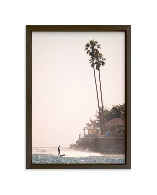 """""""Stress-Free Surf"""" - Art Print by Jamie Lollback in beautiful frame options and a variety of sizes."""