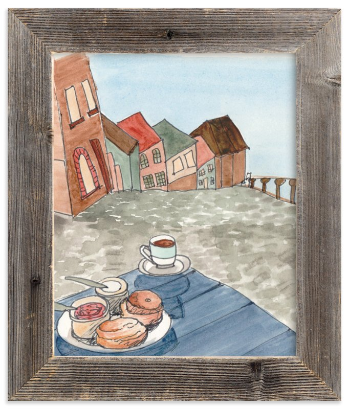 """""""Afternoon Coffee"""" - Art Print by SylvieCeres Designs in beautiful frame options and a variety of sizes."""