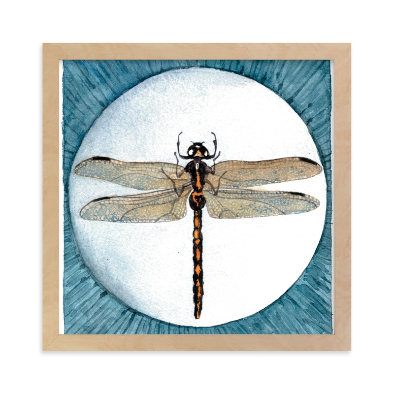 """""""Dragonfly Study I"""" - Art Print by Stephanie Toral in beautiful frame options and a variety of sizes."""