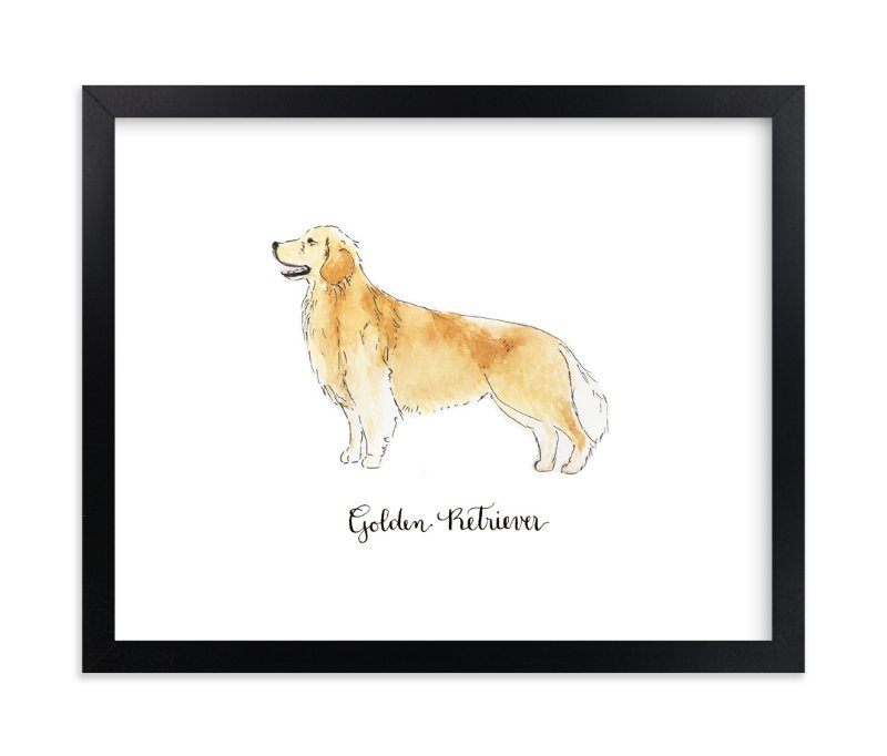 """Golden Retriever"" - Art Print by Megan Kelso in beautiful frame options and a variety of sizes."