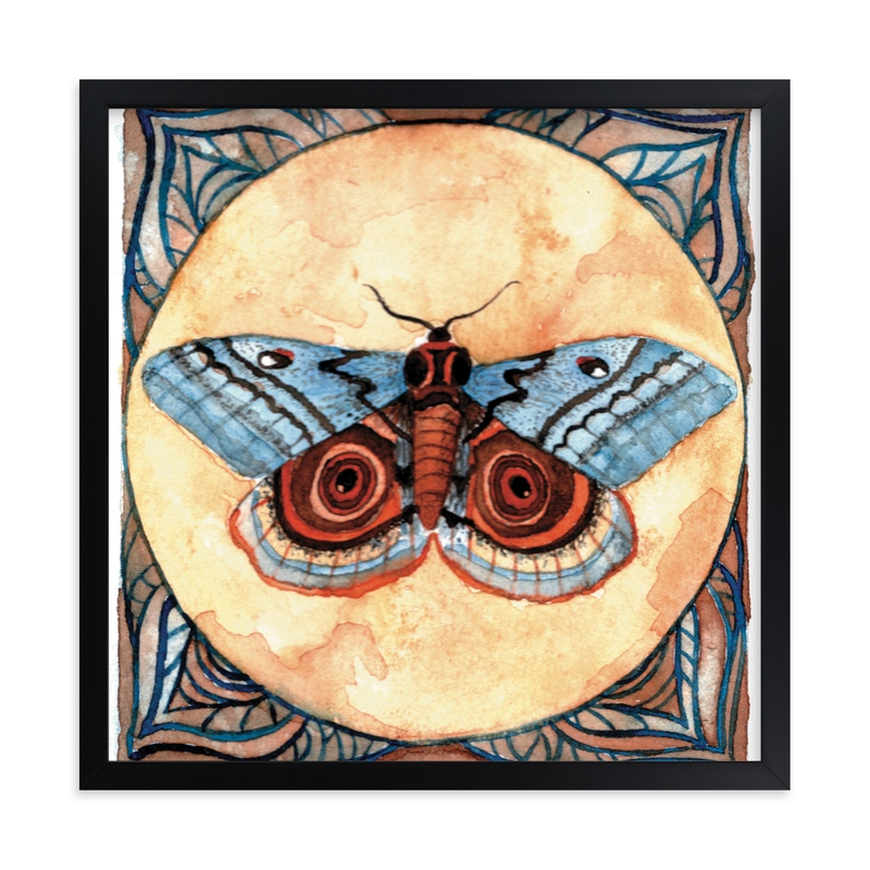 """""""Moth Study I"""" - Art Print by Stephanie Toral in beautiful frame options and a variety of sizes."""