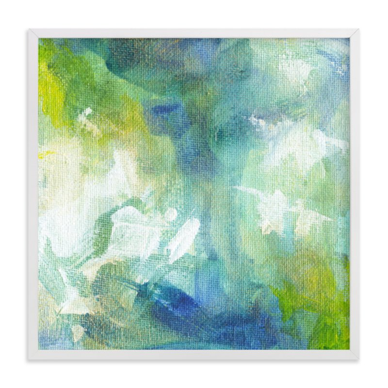 """""""Aquamarine No. 1"""" - Art Print by 2birdstone in beautiful frame options and a variety of sizes."""