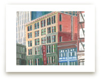Downtown Buildings by Valerie Hamill