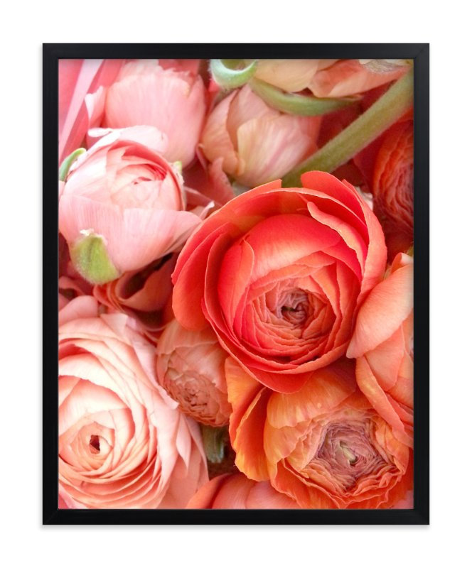 """""""Ranunculus Tangle"""" - Art Print by Kate Wong in beautiful frame options and a variety of sizes."""