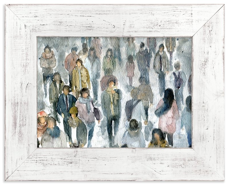 """""""Strangers II"""" - Art Print by Lulaloo in beautiful frame options and a variety of sizes."""