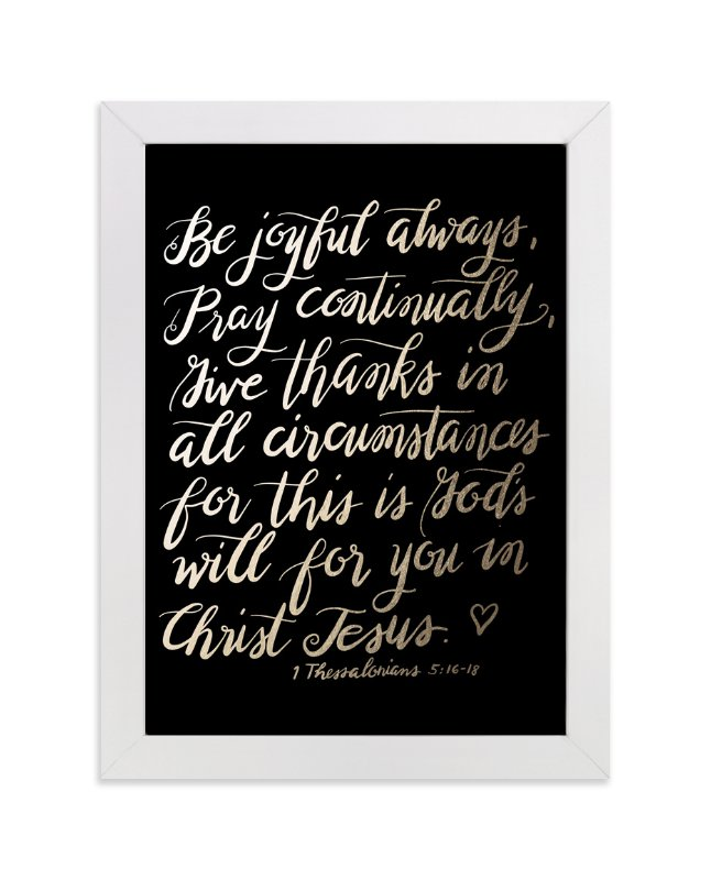 """""""Be joyful always"""" - Art Print by Ramoncita Campo in beautiful frame options and a variety of sizes."""