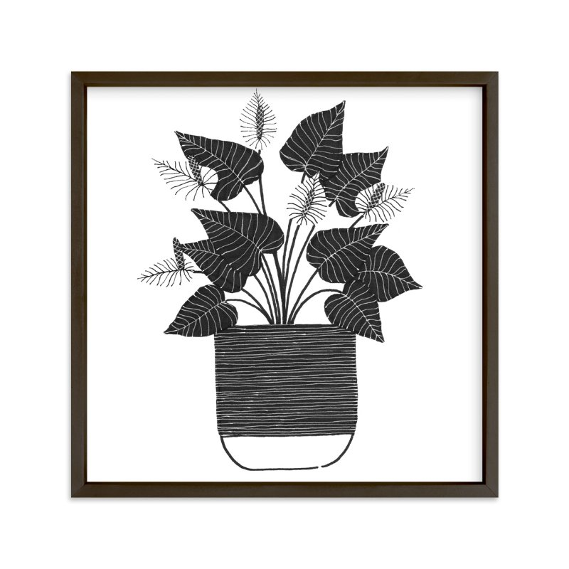 """A Simple Anthurium"" - Art Print by Madeline Trait in beautiful frame options and a variety of sizes."