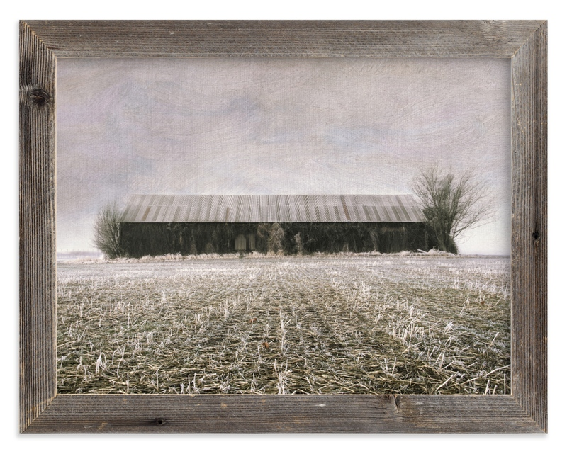 """""""Rustic Moody Barn"""" - Art Print by Michelee Scott in beautiful frame options and a variety of sizes."""