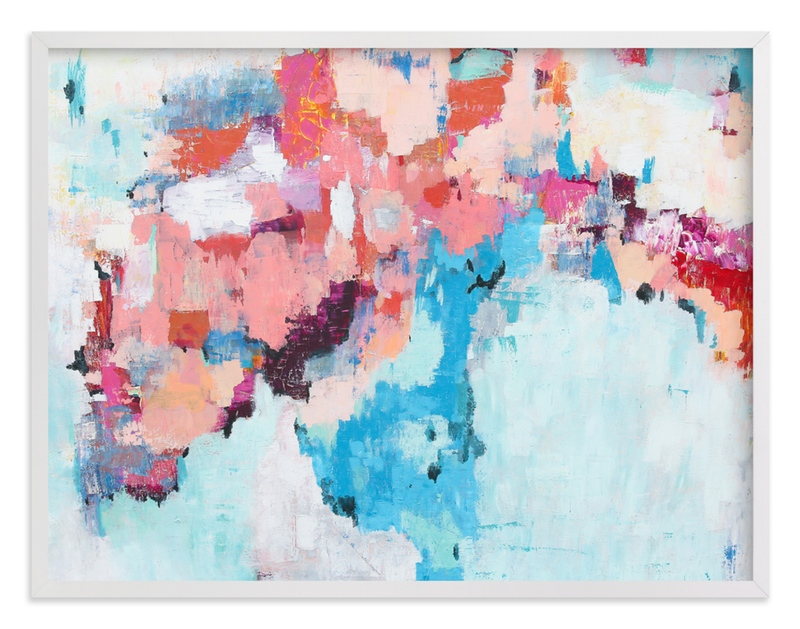 """""""Pink and Blue Abstract Painting"""" - Art Print by Caryn Owen in beautiful frame options and a variety of sizes."""