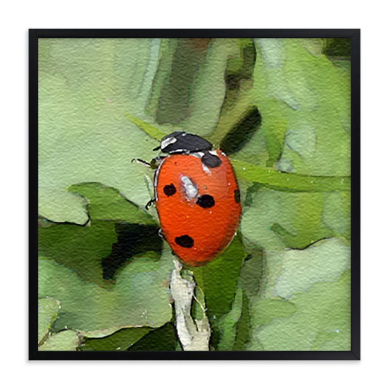 """""""Lady Bug One"""" - Art Print by Margaret Williams in beautiful frame options and a variety of sizes."""