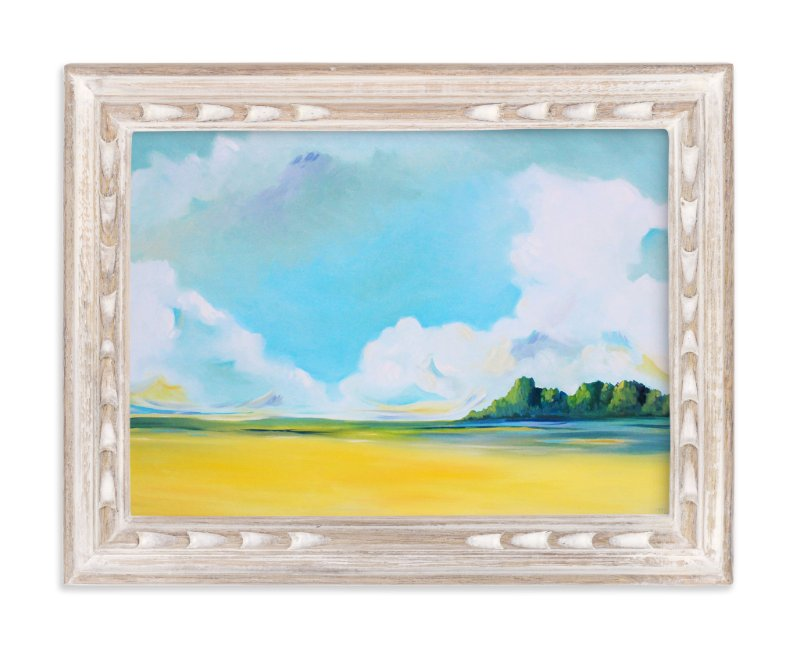 """Delta Fields"" - Art Print by Megan Kelley in beautiful frame options and a variety of sizes."