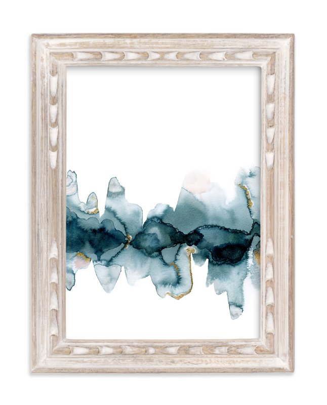 """""""Fractured Horizon 2"""" - Art Print by Melanie Severin in beautiful frame options and a variety of sizes."""