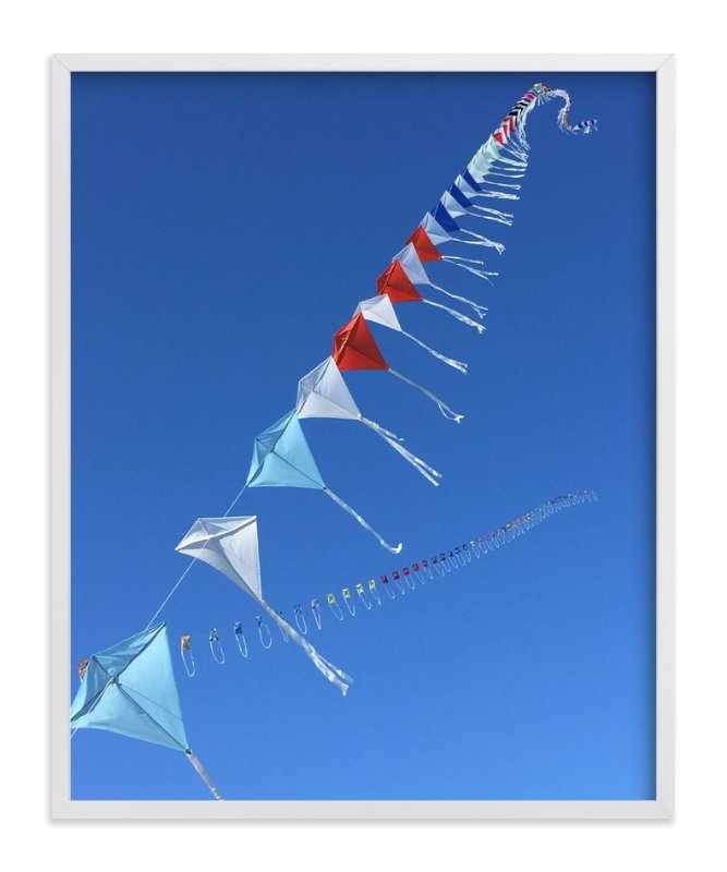 """""""Fly A Kite 2"""" - Art Print by Jan Kessel in beautiful frame options and a variety of sizes."""